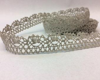 10meters 100% Natural Linen lace trim 2cm width linen trim