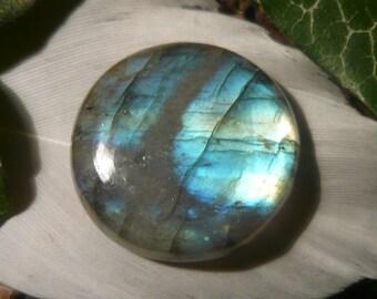 Labradorite Cabochon, 18.4ct Round Shape