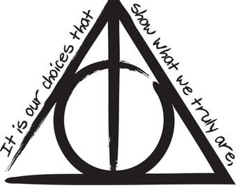 The Deathly Hallows 'Harry Potter And The Deathly Hallows' Vinyl Sticker