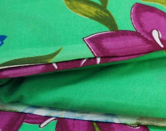 Dressmaking Fabric Cotton Fabric For Sewing Designer Green 100% Cotton Designer Fabric Floral Printed Sewing Fabrics Dress By 1 Yard ZBC6299