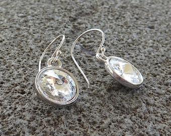 Crystal Earrings, Bridal Earrings, Wedding Jewelry, Crystal and Silver Earrings