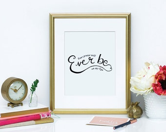 Your Praise Will Ever Be Wall Print // Christian Wall Art, Wall Print, Wall Decor, Christian Worship Wall Print, Christian Praise Wall Print