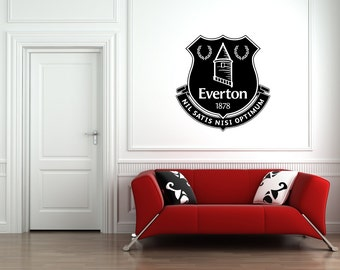 Everton FC Badge Wall Vinyl Decal Art Stickers Football Club Sport Bedroom Mural