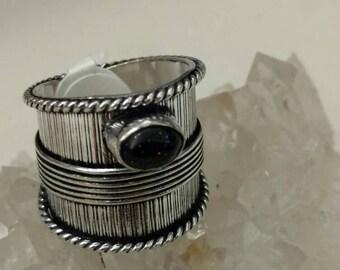 Blue Sandstone Ring Size 8