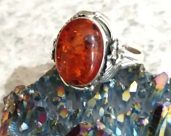 Authentic Baltic Amber Ring Size 8 1/2