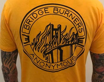 Large - Bridge Burners Anonymous in Gold