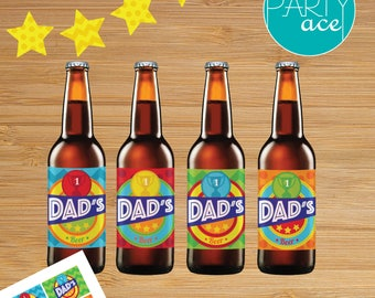 Happy Father's Day Printable Beer Label and Banner Package