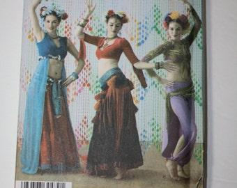 Simplicity 3832 belly dance costume uncut pattern size 14-20 skirt choli shrug tribal dance