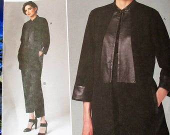 Vogue Pattern, V1264, Misses Petite jacket and pants, loose fitting & lined jacket, semi-fitted pants, tapered leg pants, Sz: 14, 16, 18, 20