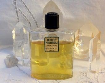 Roger & Gallet, Œillet Mignardise, 40 ml. or 1.35 oz. Flacon, Eau de Parfum, et Savon 100 gm. 1922, Paris, France ..