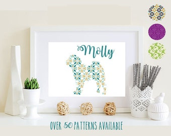 Chinese Shar-Pei Matted Print