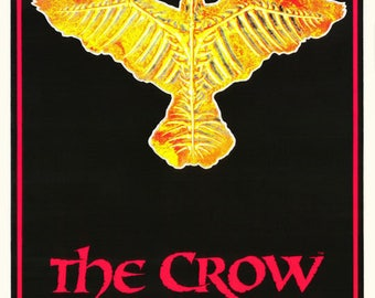 The Crow City Of Angels Flocked Black Light  Rare Vintage Poster
