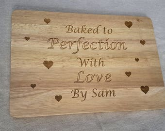 Personalised Chopping Board - Baking Gift - Baked to Perfection -  Chopping Board - Gift for a Baker - Personalised Baking - Baking