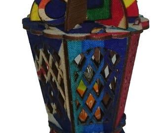 Islamic Arab Egyptian Small Fanoos Battery Lantern with Light for Ramadan Eid Decor gift
