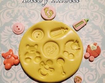 Baby Mold,Pacifier,Bear,Button,