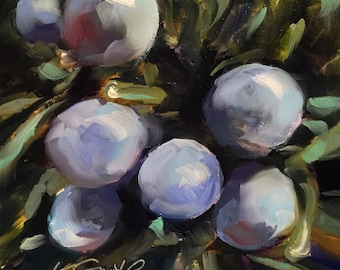 confidence // original art // oil painting // original painting // purple flower // purple flower art // purple painting // floral art