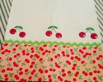 """Tea Towel """" Cherries"""""""