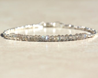 Labradorite Bracelet, Labradorite Gemstone, Gemstone Bracelet, Beaded Stacking Bracelet, Gemstone Bracelet, Gemstone Beads, Christmas Gift