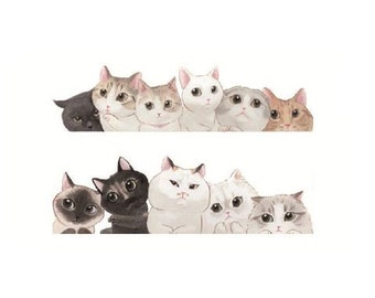 Cats Cuddling - Temporary Tattoos // Cute // Cat Lover // Hipster // Tumblr Style // Cool // Summer // Party