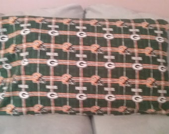 Green Bay Packers Flannel Pillowcase