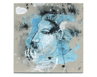 """Ice cold"" image 15/15 cm (5.9/5.9 inch) portrait"