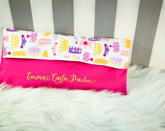 custom cotton bag nursery bib with name