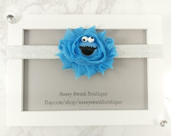 Cookie Monster Baby Headband - Baby Headband - Baby Flower Headband - Sesame Street Headband- Newborn Headband - Toddler Headband- Baby Gift
