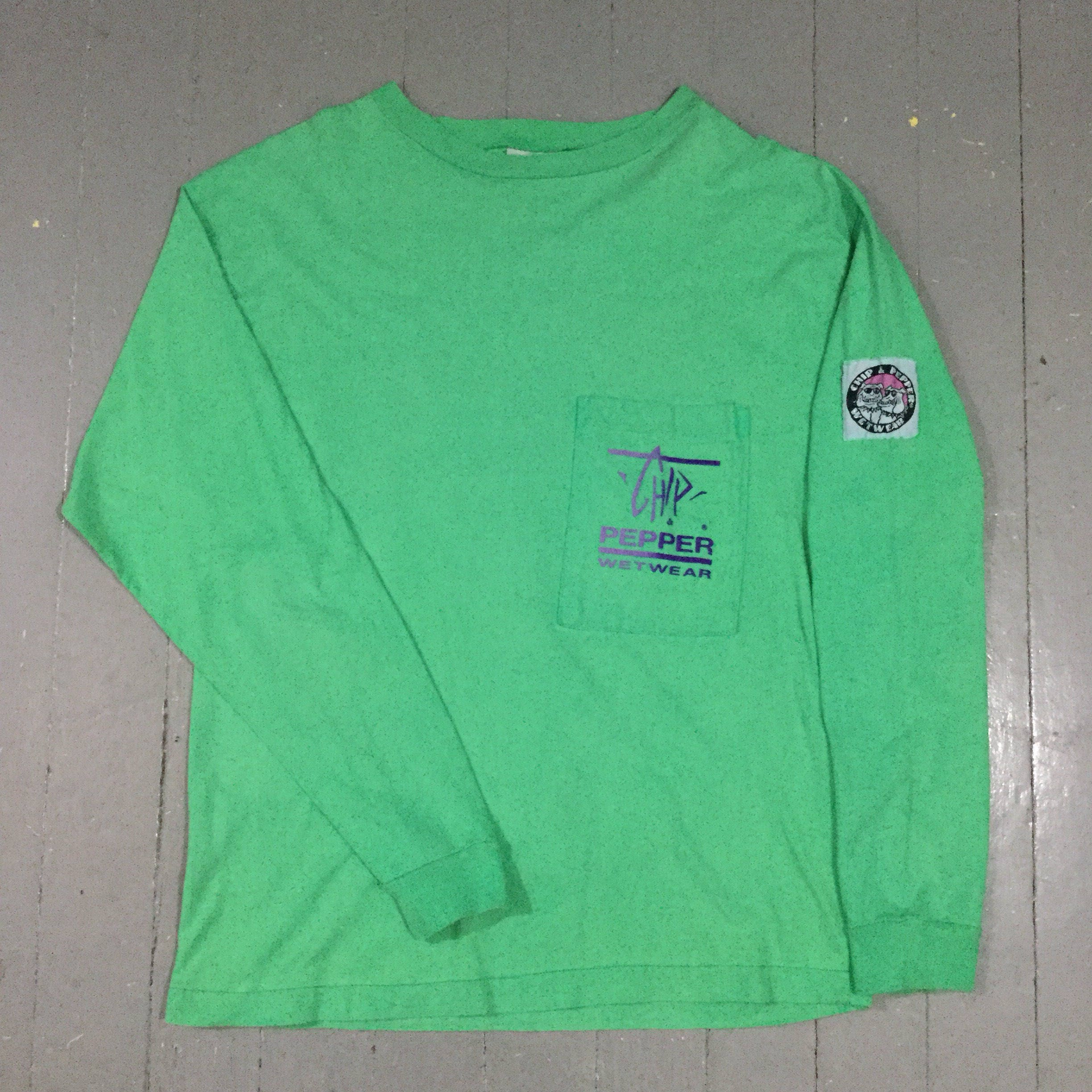 Vtg 1987 chip and pepper wet wear long sleeve shirt for Chip and pepper t shirts