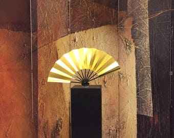 Original gold/silver Japanese fan used by geisha and maiko during their traditional dances.