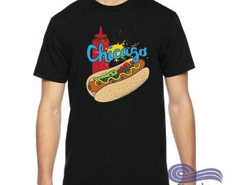Chicago Hot Dog Shirt, Chicago Shirt, Hot Dog shirt, State Shirt, Chicago Home Shirt,, Funny Chicago Shirt, Funny Food Shirt, Vacation Shirt