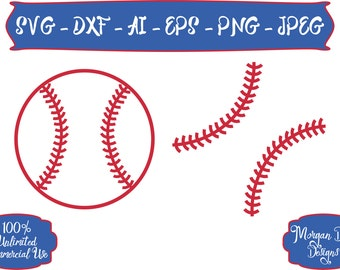 Baseball SVG - Baseball Strings SVG - Baseball SVG - Sports svg - Sports Ball svg - Files for Silhouette Studio/Cricut Design Space