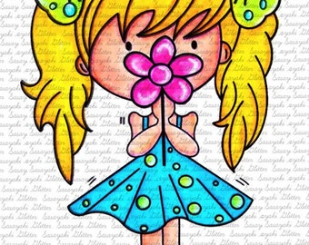 Sweet Lilly Digital Stamp By Sasayaki Glitter