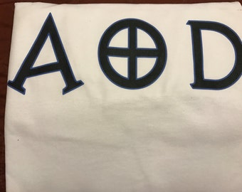 AOD Blue And Black Letter Shirt