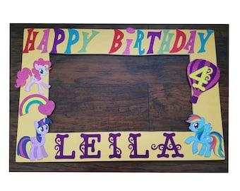 My Little Pony Photo Booth Frame Prop