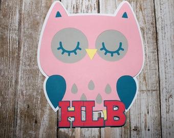 Owl Cake Topper, Owl Centerpiece, Owl Birthday Party Decor, Owl Baby Shower