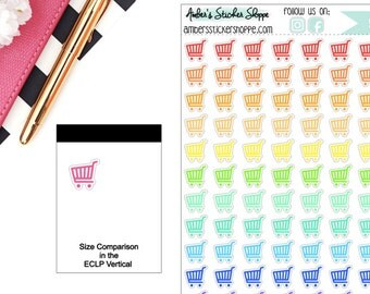 Grocery Cart Buggy Shopping Cart Planner Stickers
