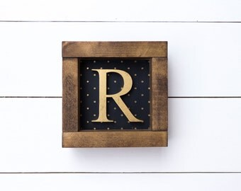 monogram wood sign / polkadot monogram wood sign / personalized gift / Initial wood sign / monogram letter / monogram decor / name wood sign