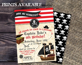 PIRATE BIRTHDAY INVITATION | Pirates Birthday Party | Arg Me Harties