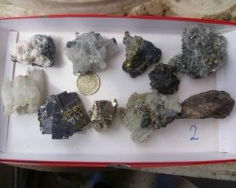 Rocks and minerals, crystals, mineral specimen set 2, Bulgaria,