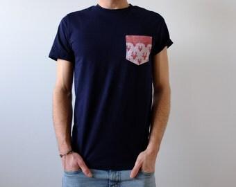 Handmade pocket T-shirt - deer