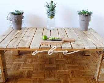 Items similar to hand crafted 66 plank top dining table handmade in no - Palette transformee en table basse ...