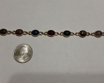 "Vintage 14k yellow gold scarab bracelet. 7.5"" badr"