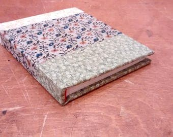 red wheelbarrow / pocket blank journal / fabric-covered book