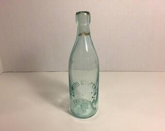 Bottle, Beverage Bottle Edward Simonson Freehold NJ, Blob Top Bottle