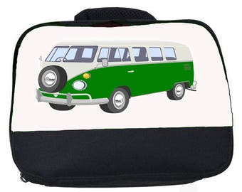Campervan canvas lunch bag (perfect for school or nursery)