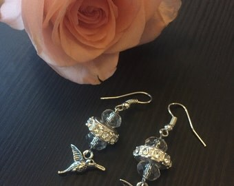 Anna's humming bird earrings