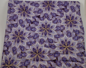 Purple and Gold floral pot holder, hot Pad, pan holder, oven mitt,