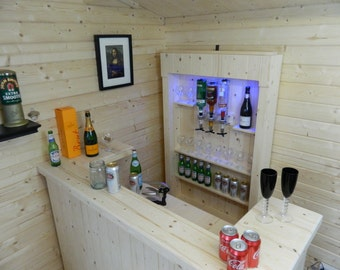 home bar  Micro Pub cave patio Summer house garden bar 004 - FREE UK DELIVERY