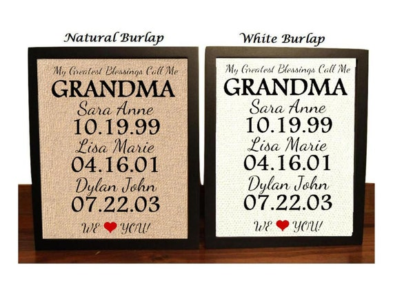 Gift For Grandma Grandma 39 S Birthday Gift Grandma