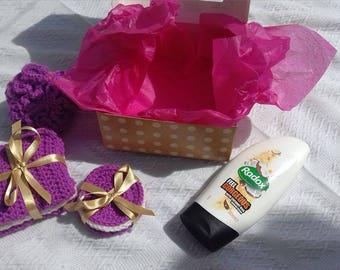 Shower gift set, wash set, gift set, birthday present, shower pouf, face clothes, face pads, shower wash, wash cloths